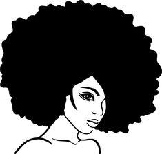 Wall decal Sticker Beauty Parlour Afro Free Black Girls, Black Girl Art, Black Women Art, Black Art, Black Girl Magic, Black Woman Silhouette, Silhouette Art, African American Art, African Art