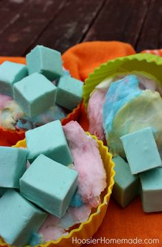Cotton Candy Fudge - the best of both worlds, cotton candy and fudge.  (Would not wait 40 minutes in 105 heat index yesterday for cotton candy booth to open at Party in the Park!)