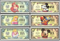 We are starting something new at our house... Disney Dollars!!  The boys are going to start earning them for things they do around the ho...