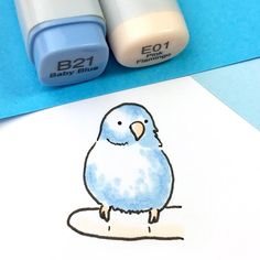 I need these pens! Kawaii Drawings, Doodle Drawings, Easy Drawings, Animal Drawings, Doodle Art, Copic Marker Drawings, Sketch Markers, Copic Markers, Kawaii Doodles