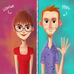 ArtStation - Phil and Louise , Julio Cesar