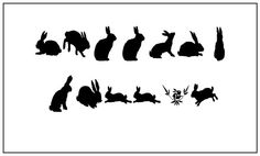Free printable bunny silhouettes from Martha-s Design.