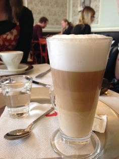 Our Czech Buddy took us to the Café Louvre, one of her favorite brunch spots, and I ordered this beautiful latte. The cafe dates back to 1902 and was popular among many famous writers, artists, and thinkers, including Franz Kafka and Albert Einstein. #Prague #CzechRepublic #CETPrague @CETAcademicPrograms