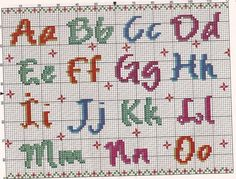 Cross Stitching, Cross Stitch Embroidery, Abc Letra, Plastic Canvas Letters, Graph Paper Art, 3d Perler Bead, Cross Stitch Letters, Letter Patterns, Chart Design