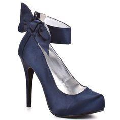 Michael Antonio : Ladina - Navy Satin now these shoes scream LADY Women's Shoes, Cute Shoes, Me Too Shoes, Shoe Boots, Ankle Shoes, Stiletto Shoes, Pretty Shoes, Beautiful Shoes, Stilettos