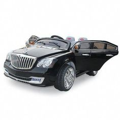 Luxurious Limited Edition Kid's Black Maybach Style Ride on Car, Genuine Seat, Battery Powered, Remote Control Remote Control Boat, Radio Control, Kids Power Wheels, Toy Cars For Kids, Kids Toys, Kids Ride On, Ride On Toys, Pedal Cars, Maybach