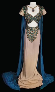 Hedy Lamarr's beautiful gown as Delilah.