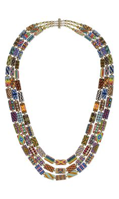 Jewelry Design - Triple-Strand Necklace with Seed Beaded Spool Beads - Fire Mountain Gems and Beads Seed Bead Necklace, Seed Bead Jewelry, Strand Necklace, Seed Beads, Beaded Jewelry, Beaded Necklaces, Jewellery, Diy Jewelry, Schmuck Design