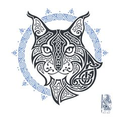 MISTRESS OF NIGHT BY RAIDHO   Lynx celtic knotwork tattoo.