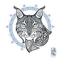 MISTRESS OF NIGHT BY RAIDHO   Lynx celtic knotwork tattoo.