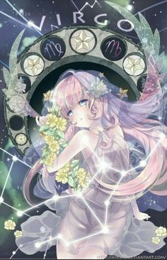 virgo [Zodiac Constellations] by Ayasal Anime Art Girl, Manga Art, Manga Anime, Anime Girls, Anime Pokemon, Anime Kawaii, Anime Zodiac, Zodiac Art, Virgo Art
