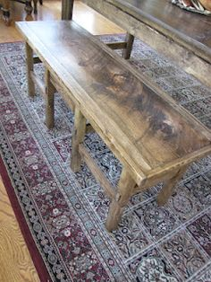 Great stain combination on DIY bench