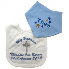 Choose a bib and drib for your baby's Christening, they are super cute and will make your Christening even more special. Also makes a great little personalised gift.