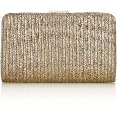 Accessorize Metallic Woven Abbey Clutch Bag ($15) ❤ liked on Polyvore featuring bags, handbags, clutches, gold, woven purse, metallic handbags, metallic clutches, clasp purse and chain handle handbags