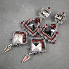 Orecchini soutache di stile azteco lussuose di byPiLLowDesign