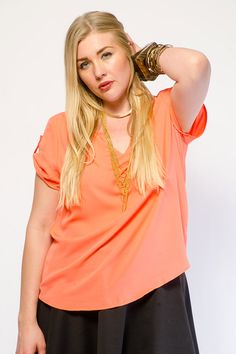 TRENDY SOLID WOVEN TOP $13.99