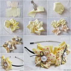 How to DIY Elegant Ribbon Flower Hairband | iCreativeIdeas.com Like Us on Facebook ==> https://www.facebook.com/icreativeideas