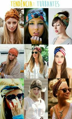 Tendência para as madeixas, sendo solto ou preso. *-* #hair #penteado #turbante #tendencia