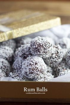 Rum Balls - Australian styled Rum Balls made with Weetabix/Weetbix/VitaBrits. Chocolaty and crunchy deliciousness.