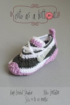 Looking for your next project? You're going to love Cute as a button Crochet Baby Sneaker  by designer Cute As AButton. - via @Craftsy