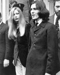 """George Harrison and Pattie Boyd-Harrison (Pot Bust 1969) Just a few years later patti left George for Eric Clapton. Clapton wrote the song """"you look lovely tonight"""" for Patti"""
