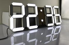 Multi-Functional Remote Control Large LED Digital Wall Clock with Countdown Timer Temperature Date & Modern Design (Black Back Ground)