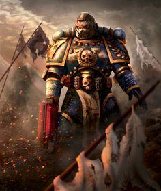 Warhammer 40K  (2015), David Ceballos López on ArtStation at https://www.artstation.com/artwork/vDq26