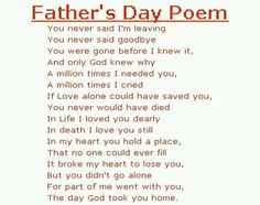 happy fathers day in heaven poems and quotes | San Antonio, TX