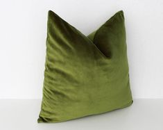 16x16 Decorative Olive Green Sofa Cushion Cover | Etsy Green Cushions, Green Throw Pillows, Green Sofa, Orange Pillows, Velvet Cushions, Cushions On Sofa, Couch, Green Velvet Fabric, Green Velvet Pillow