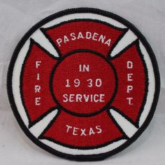 Pasadena Texas, Patches For Sale, Fire Department, Selling On Ebay, Kids Rugs, Red, Decor, Fire Dept, Decoration