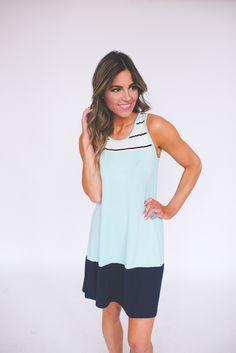 Dottie Couture Boutique - Navy/Mint Color Block Tunic , $28.00 (http://www.dottiecouture.com/navy-mint-color-block-tunic/)