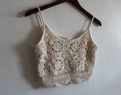 super cute cropped crochet top