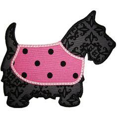 Scottie Dog Applique