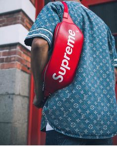 2017 Fashion Trend, Limited Edit. Louis Vuitton and Supreme In Red Epi Collection.