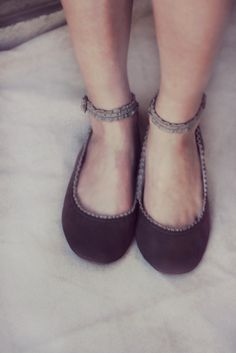 Intimate - Handmade Leather ballet flat shoes. $95.00, via Etsy.