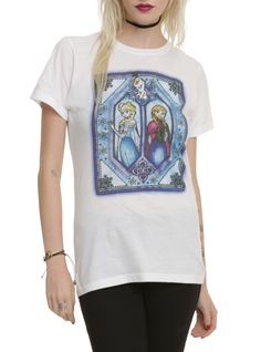 Disney Frozen Stained Glass Girls T-Shirt   Hot Topic