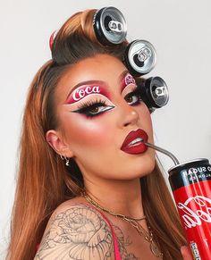 Edgy Makeup, Makeup Eye Looks, Halloween Makeup Looks, Eyeshadow Looks, Pretty Makeup, Makeup Inspo, Makeup Art, Makeup Inspiration, Beauty Makeup