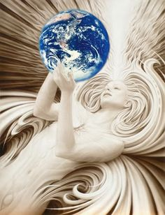 Radiant Mother Earth...I love, love love this picture...I actually have it saved on my computer from years ago to do as a tattoo....