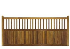 Sliding Gates in Iroko Hardwood - The Staffordshire design. Constructed in the UK using the finest hand selected timber.
