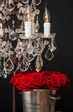 Timothy Oulton Chandelier Lamp with Roses