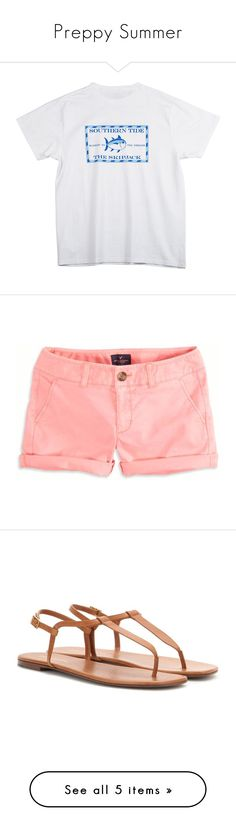 """""""Preppy Summer"""" by meredith-gomes ❤ liked on Polyvore featuring men's fashion, tops, shirts, shorts, bottoms, pants, pink, low rise shorts, pink shorts and twill shorts"""