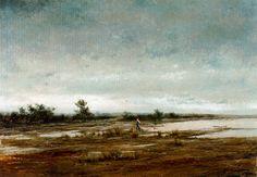 Eliseo Meifrén Roig. Humedales. Óleo sobre lienzo. Firmado. 88 x 125 cm. Exposición Valencia, p. 81.