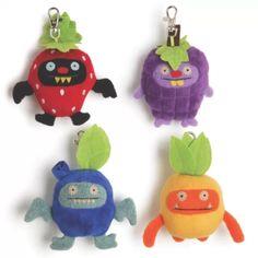 Uglydoll fruit clip ons