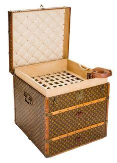 Louis Vuitton Monogram Canvas Cube Steamer Trunk