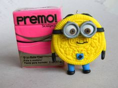 Despicable Me Minion Oreo-Polymer Clay-Charm. $20.00, via Etsy.    so cute!