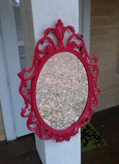 Pretty red mirror.