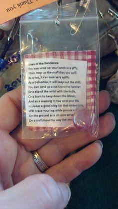 Girl Scout SWAPs: Bandana uses