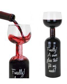 Full Wine Bottle Glass