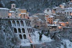 Castelli (teramo) only 45 drive minutes from Roseto degli Abruzzi Italy Travel, Italy Trip, Ski Slopes, Adriatic Sea, Skiing, Medieval, Landscape, Beach, Places