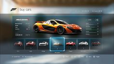 Forza Motorsport 6 - UI Design and Prototyping on Behance